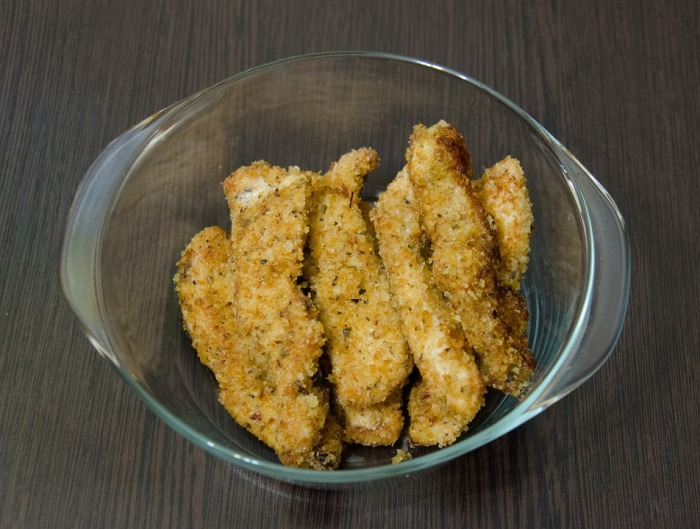 Chicken Fingers With Cranberry-BBQ Dipping Sauce